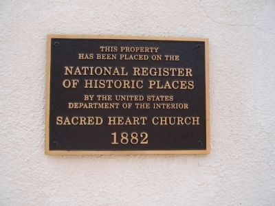 1882 Sacred Heart Church Plaque image. Click for full size.