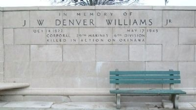J. W. Denver Williams, Jr. Memorial image. Click for full size.