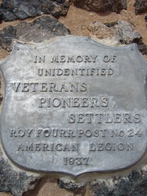 Veterans Pioneers Settlers Marker image. Click for full size.