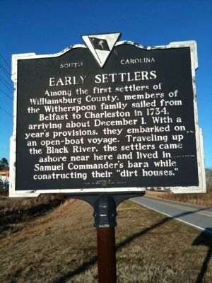 Early Settlers / Potatoe Ferry Marker (front) image. Click for full size.