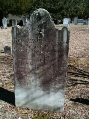 Robert Wilson Grave Marker Photo, Click for full size