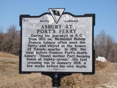 Asbury at Port's Ferry Face of Marker image. Click for full size.
