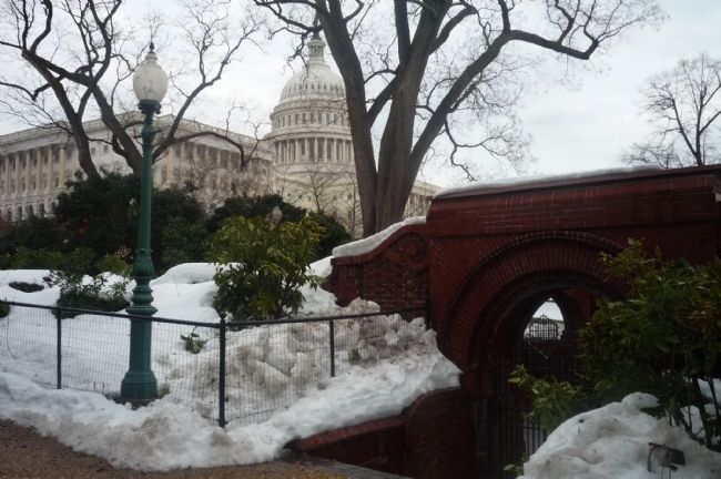 "View of U.S. Capitol from the Summerhouse - after ""Snowmageddon 2010"" Photo, Click for full size"