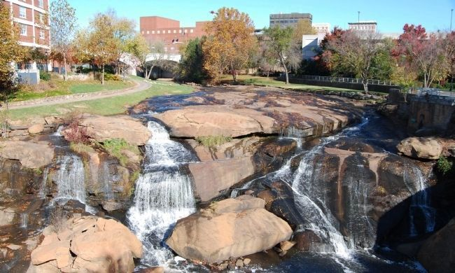 Reedy River Falls from the Liberty Bridge Photo, Click for full size