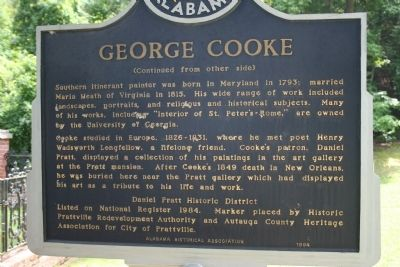 Daniel Pratt Cemetery / George Cooke Marker Side B image, Click for more information
