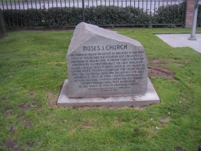 Moses J. Church Marker Photo, Click for full size