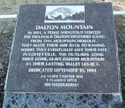 Dalton Mountain Marker Photo, Click for full size