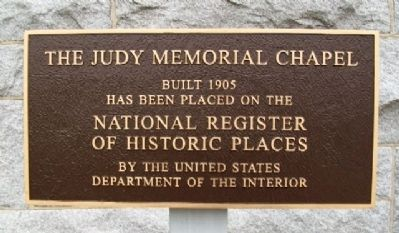 The Judy Memorial Chapel Marker image. Click for full size.