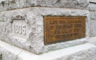 The Judy Memorial Chapel Cornerstone image. Click for full size.