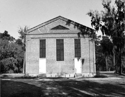 Salem (Black River) Presbyterian Church , rear view image. Click for full size.