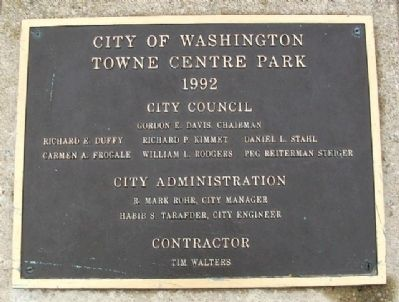 Towne Centre Park Marker image. Click for full size.