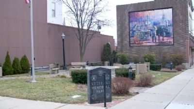 Veterans Memorial Park and Markers image. Click for full size.