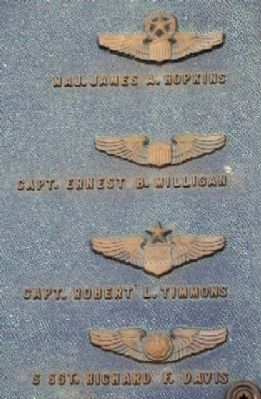 302nd TCW Memorial Names Photo, Click for full size