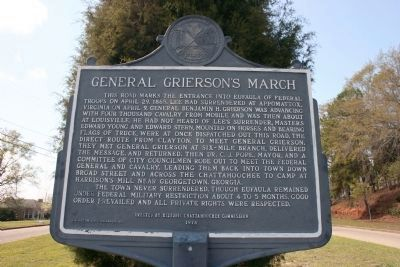 General Grierson's March Marker West View image. Click for full size.