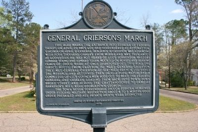 General Grierson's March Marker East View image. Click for full size.