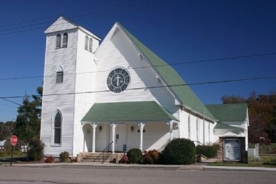 Blountsville First United Methodist Church Founded on April 18th 1818. image. Click for full size.