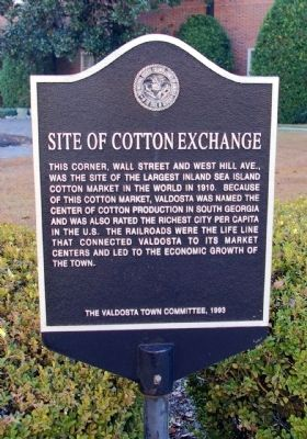 Site of Cotton Exchange Marker Photo, Click for full size