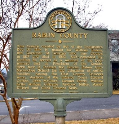 Rabun County Marker image. Click for full size.