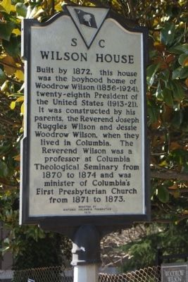 Wilson House Marker image. Click for full size.