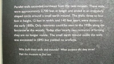 Twin Mounds & Parallel Walls Marker Detail Photo, Click for full size