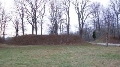North Fort Earthworks to west of Marker Photo, Click for full size