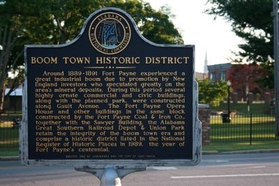 Boom Town Historic District Marker image. Click for full size.
