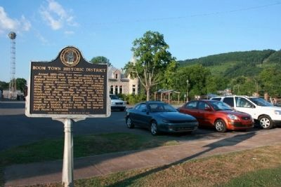 Boom Town Historic District Marker Photo, Click for full size