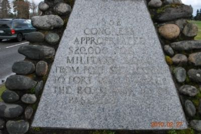 Military Road Marker (Side A) image. Click for full size.