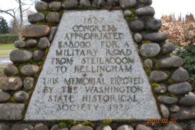 Military Road Marker (Side C) image. Click for full size.