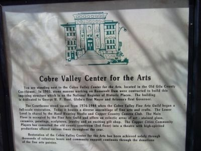 Cobre Valley Center for the Arts Marker image. Click for full size.