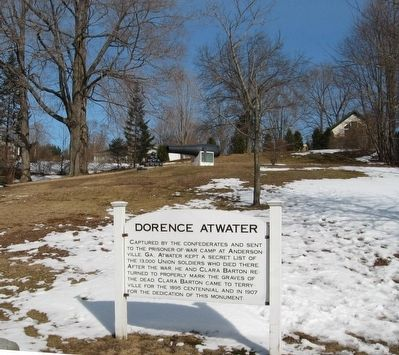 Dorence Atwater Marker and Monument image. Click for full size.