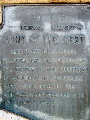 Army of the West Marker image. Click for full size.
