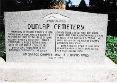 Dunlap Cemetery Marker Photo, Click for full size