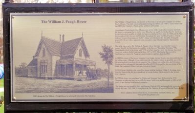 William J. Paugh House Marker image. Click for full size.