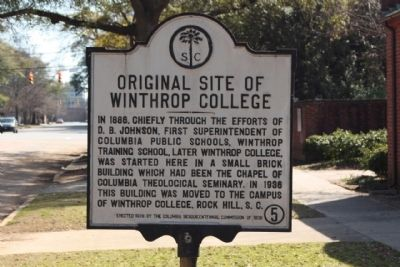 Original Site of Winthrop College Marker Photo, Click for full size