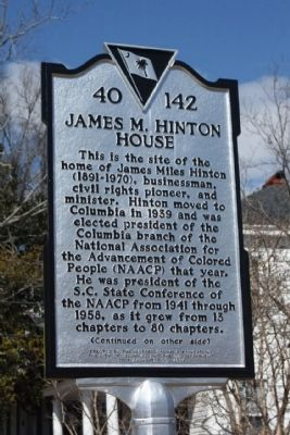 James M. Hinton House Marker image. Click for full size.
