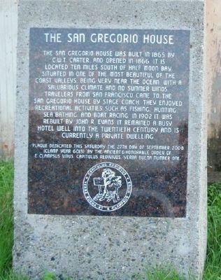 San Gregorio House Marker image. Click for full size.