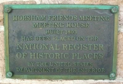 Horsham Meeting House NRHP Marker image. Click for full size.