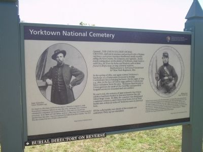 Yorktown National Cemetery Marker image. Click for full size.