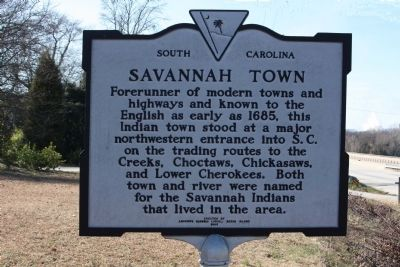 Savannah Town Marker image. Click for full size.