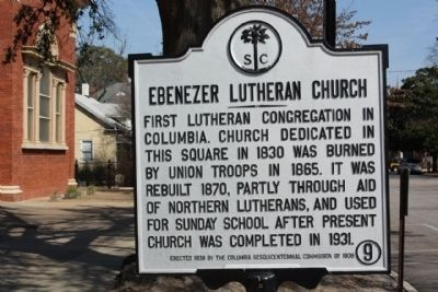Ebenezer Lutheran Church Marker image. Click for full size.