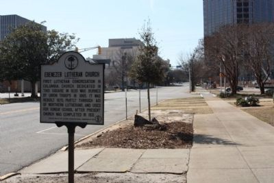Ebenezer Lutheran Church Marker seen along Richland Street image. Click for full size.