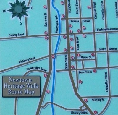 Heritage Walk Map on Marker image. Click for full size.