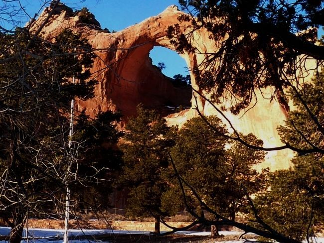 The Window Rock, at Window Rock, Navajo Nation, Arizona image. Click for full size.