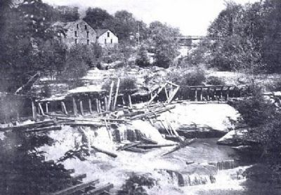 Reedy River Falls and McBee's Mills (far left) image. Click for full size.