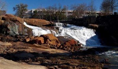 Reedy River Falls -<br>From the Base of the Falls image. Click for full size.