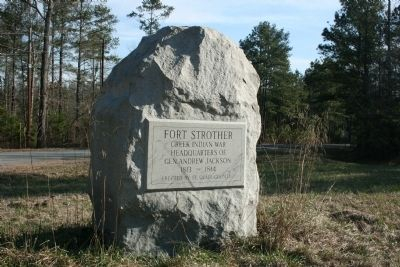 Fort Strother Marker image. Click for full size.