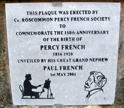 Percy French 150th Anniversary Marker image. Click for full size.
