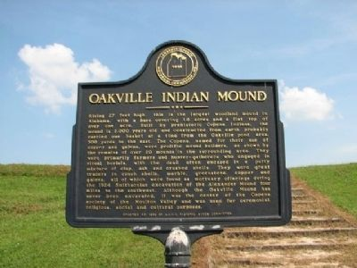 Oakville Indian Mound Marker image. Click for full size.
