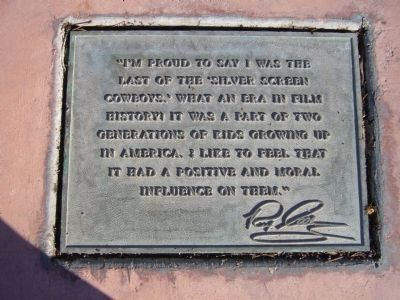 Plaque Mounted at Foot of Sculpture image. Click for full size.